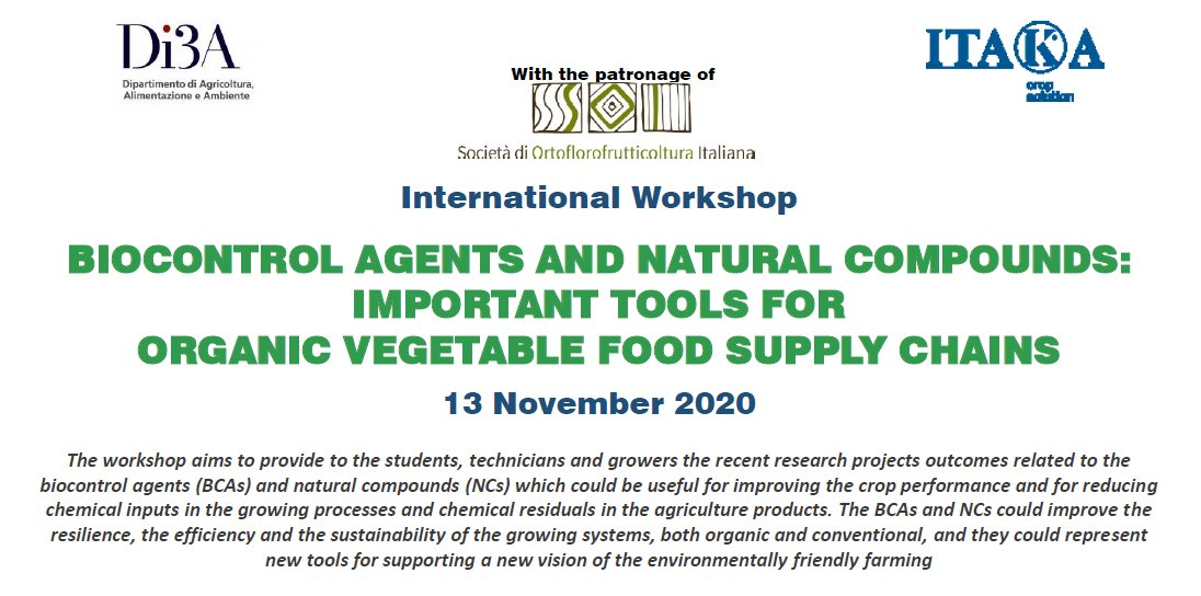 The Biocontrol Agents and Natural Compounds: Important Tools for Organic Vegetable Food Supply Chains