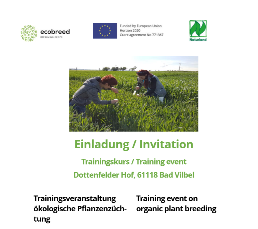 Training event for farmers and students in Germany
